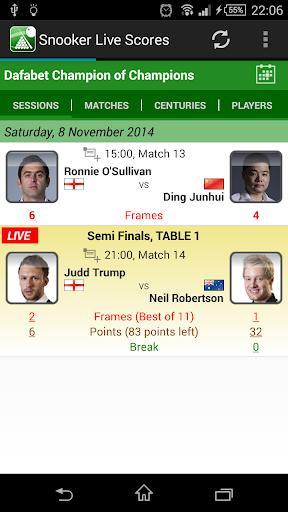 world snooker live scores app