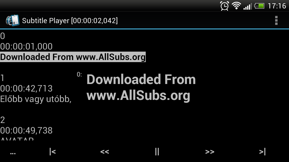 SubtitlePlayer - screenshot
