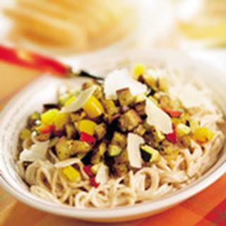 Volkoren Spaghetti Met Geroosterde Groenten En Geitenkaas