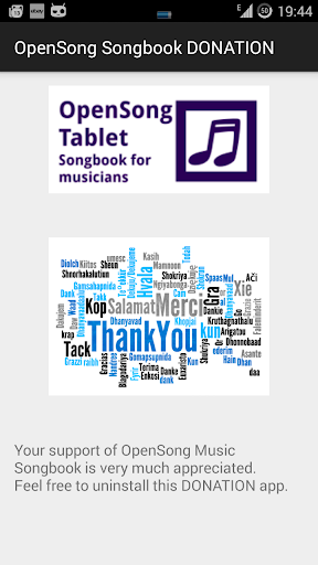 OpenSong Songbook DONATION