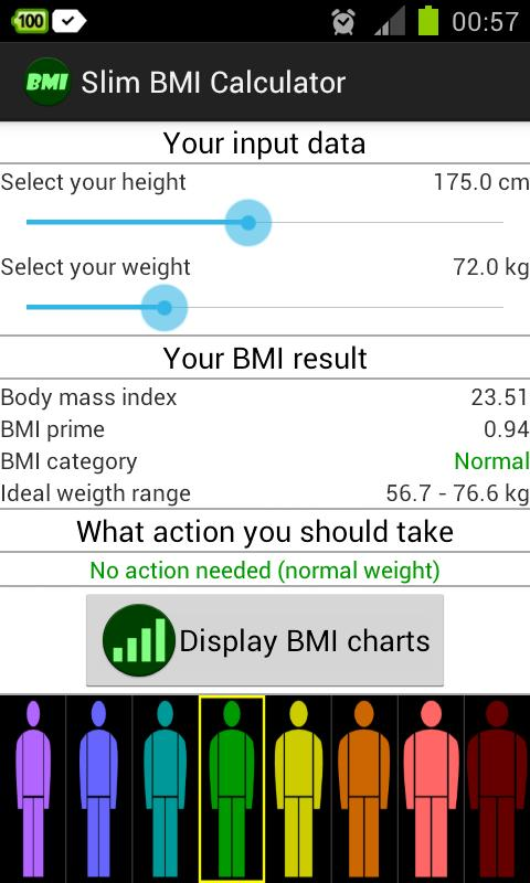 Slim BMI Calculator- screenshot