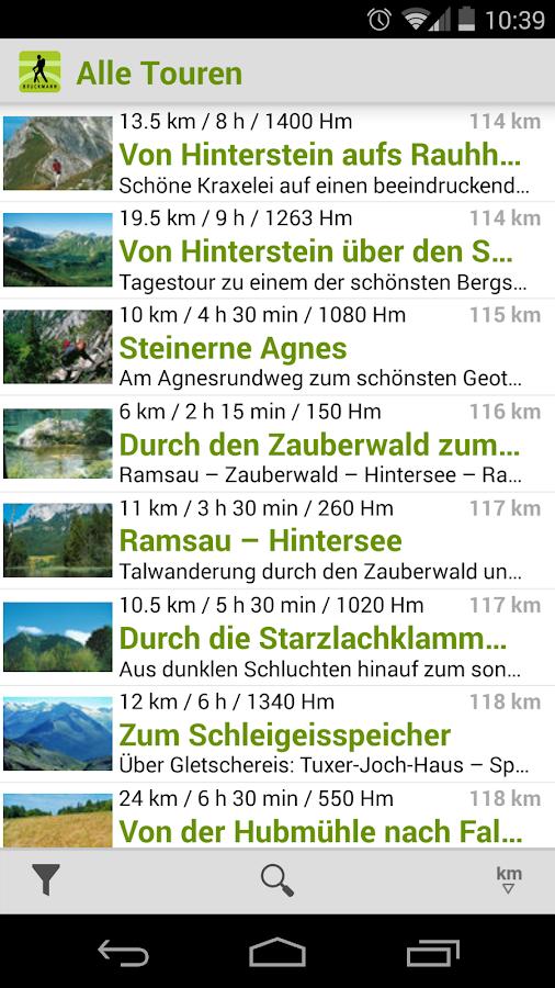 Wanderführer Europa - screenshot