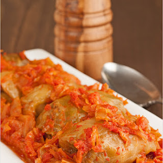 Hungarian-Style Stuffed Cabbage Rolls.