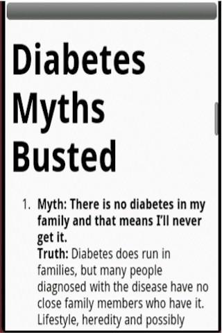 Diabetes Myths Busted
