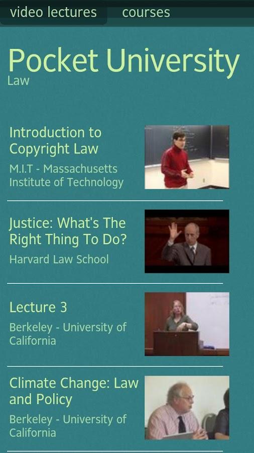 Pocket University: Law- screenshot