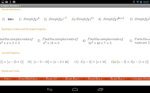 Complex Numbers Practice- screenshot thumbnail