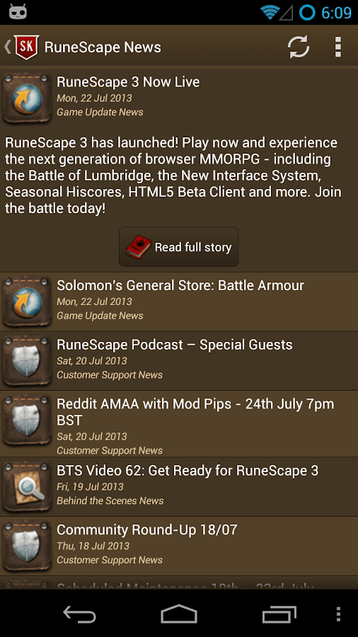 RuneScape SwiftKit Mobile Lite - screenshot