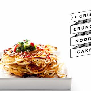 Crispy Noodle Cake