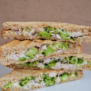 Ham Sandwiches with Broccoli and Cheese