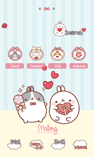 CUKI Themes Molang and present