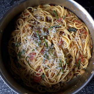 Spaghetti With Chickpeas.