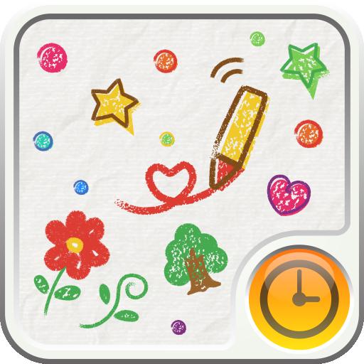 CRAYON Clock Widget LOGO-APP點子