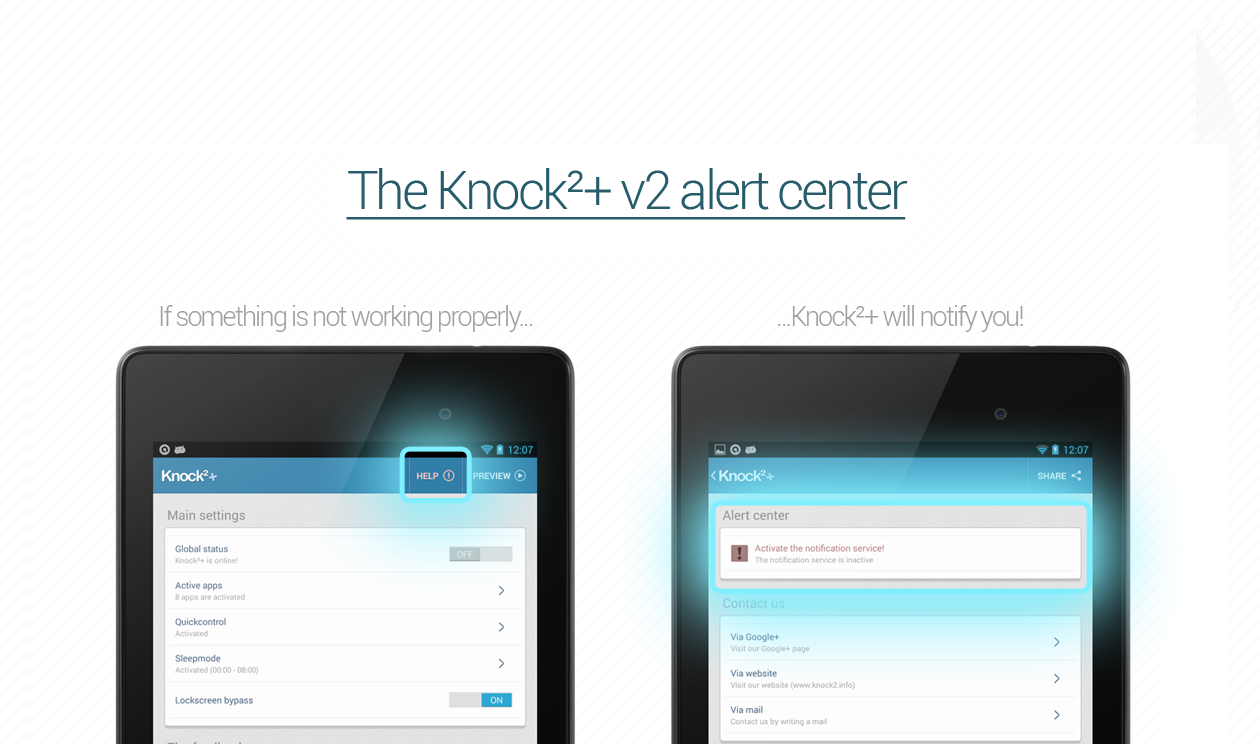 Knock²+ V2 // Notifications - screenshot