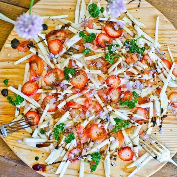 Turnip and Strawberry Salad