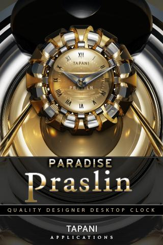 Luxus Clock Widget PRASLIN