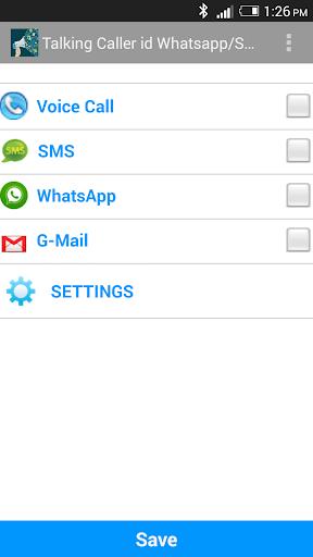 Talking Caller id-Whatsapp sms