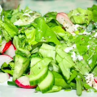 Spring Salad with Italian Dressing.