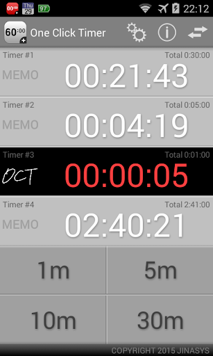 One Click Timer