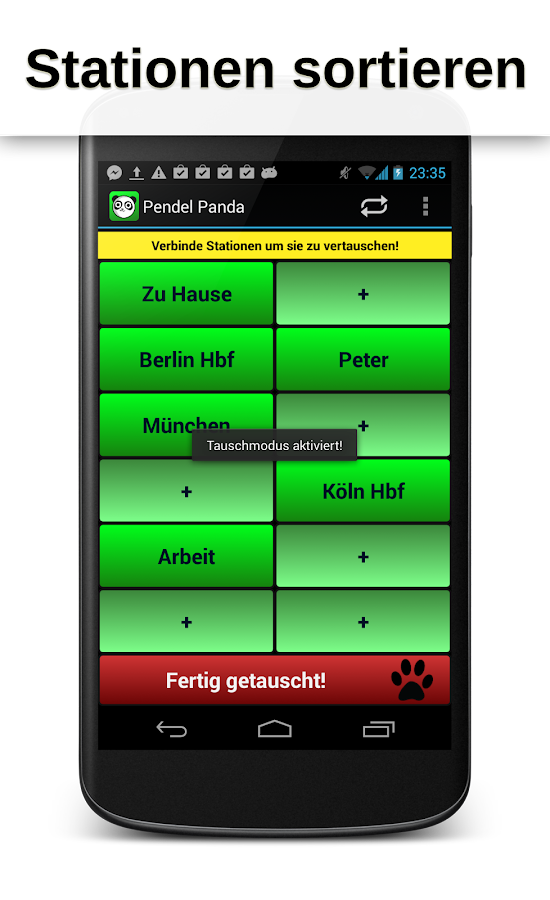 Pendel Panda Timetable - screenshot
