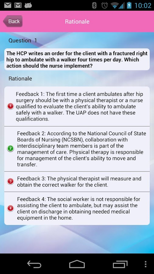 NCLEX-RN Prioritization - screenshot