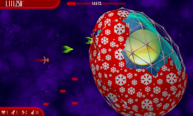 Chicken Invaders 4 Xmas HD- screenshot