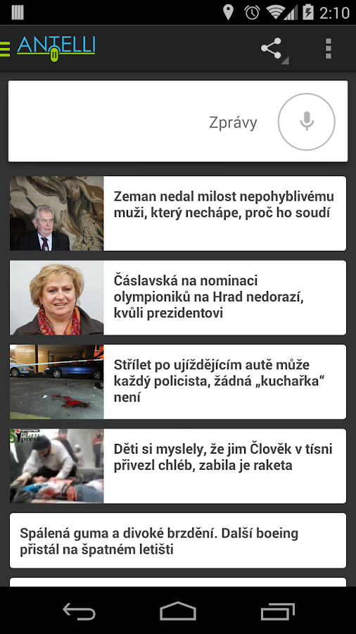 Antelli - Hlasová Asistentka - screenshot