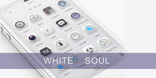White Soul GO Launcher Theme v1.0 screenshots 2