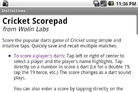 Cricket Scorepad Lite- screenshot thumbnail