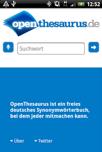 OpenThesaurus.de - screenshot thumbnail