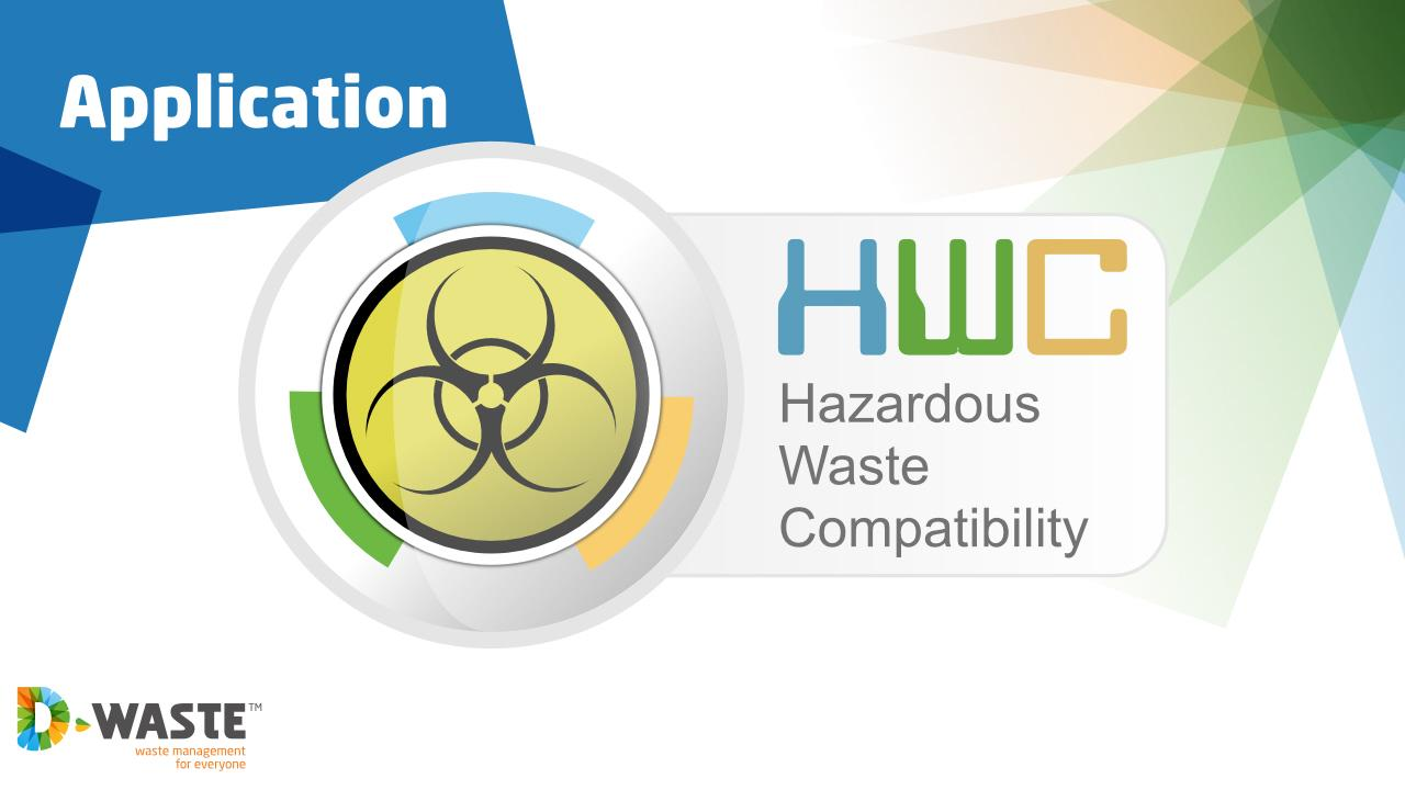 Hazardous Waste Compatibility - screenshot