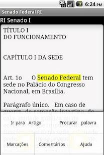 Regimento Senado Federal- screenshot thumbnail