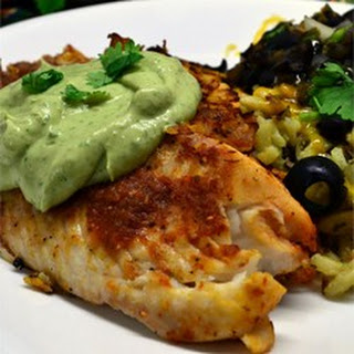 Crispy Chipotle Lime Tilapia with Cool Avocado Sauce