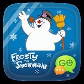 GO SMS PRO SNOWMAN STICKER