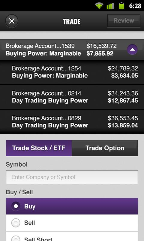 Scottrade® Mobile App- screenshot