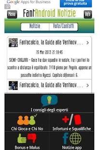 FantAndroid - News fantasyGame- screenshot thumbnail