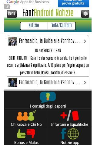 FantAndroid - News fantasyGame- screenshot