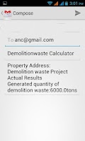 Screenshot of Demolition Waste Calculator