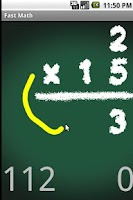 Screenshot of Fast Math