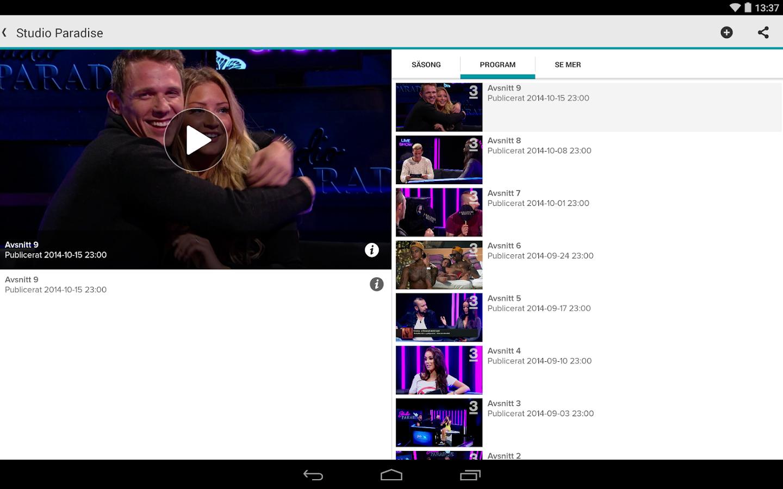 TV3 Play- screenshot