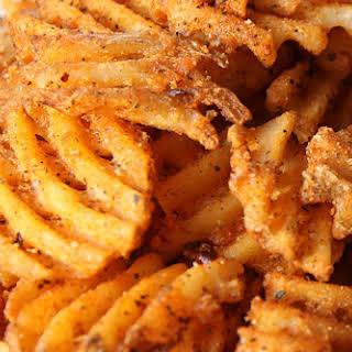 Blackened Cajun Waffle Cut Russet Fries.