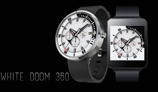 White Doom 360 Watch -Moto 360