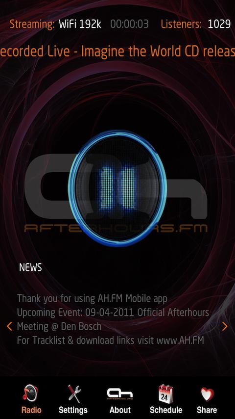 Internet Trance Music Radio - screenshot