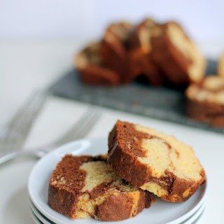 Chocolate and Vanilla Marbled Quick Bread