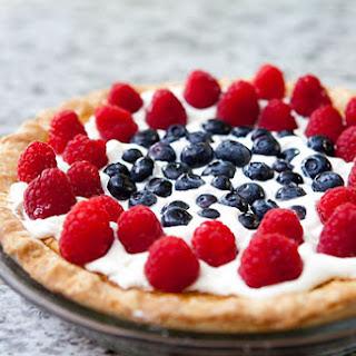 Fourth of July Buttermilk Pie.