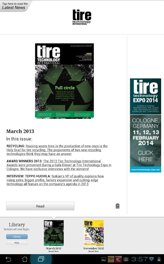 Tire Technology International- screenshot