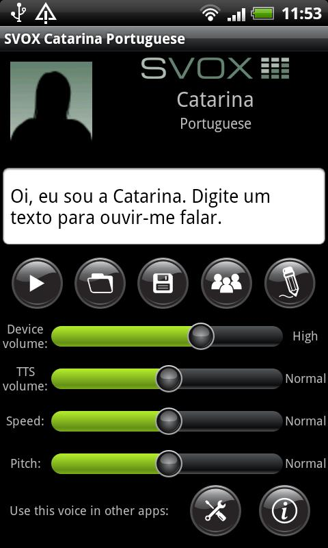 SVOX Portuguese Catarina Voice - screenshot