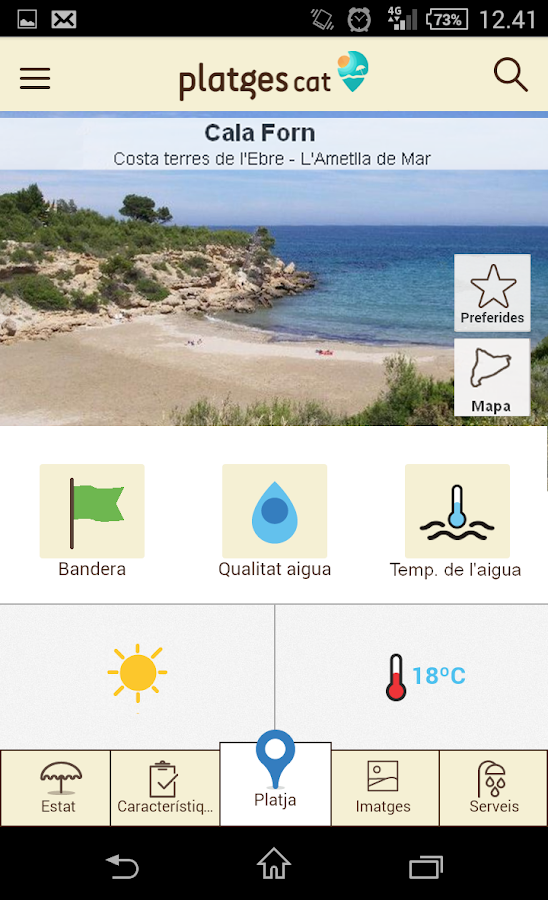 PlatgesCat (Catalonia beaches)- screenshot