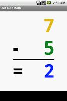 Screenshot of Zaz Kidz Math