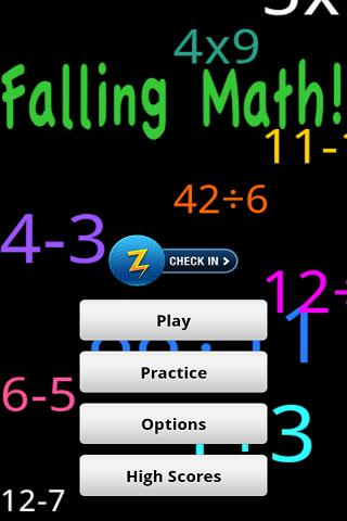 Falling Math - screenshot