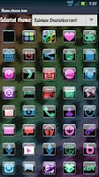 Screenshot of GO SMS Rainbow Cheetah Theme